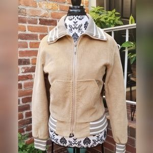 Touring Jacket Beige Corduroy Like Material